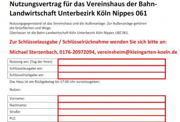 Nutzungsvertrag Vereinshaus