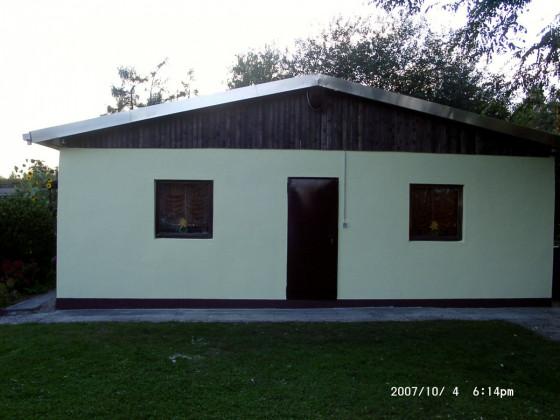 Verputzen des Vereinshaus 2007