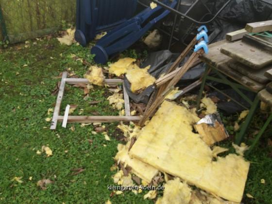 Sturmschaden am 18.01.2018 in der Gartenanlage